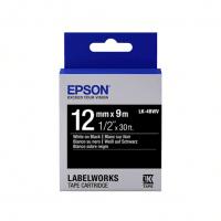 Картридж с лентой Epson LK4BWV принтеров LW-300/400/400VP/700 Vivid White/Black 12mm/9m (C53S654009)