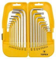 Набор ключей шестигранных TOPEX HEX i Torx 18шт (35D953)