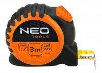 Рулетка измерительная NEO с фиксатором 3м (67-163)