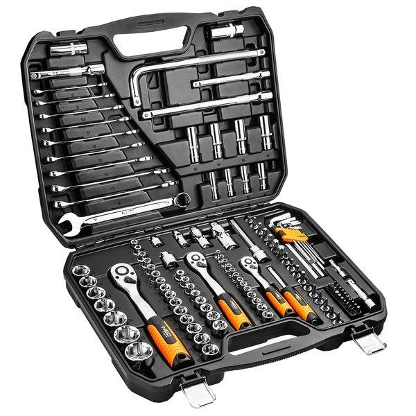 neo tools Набор торцевых головок NEO 1, 4, 1/2 120 предметов CrV (08-667)