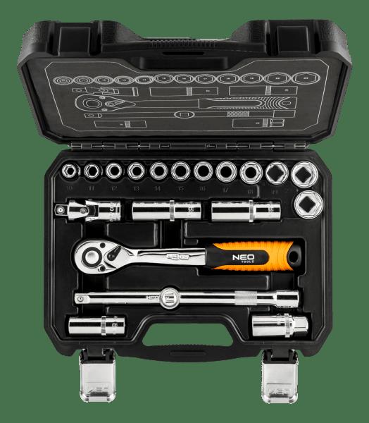 neo tools Набор торцевых головок NEO 1/2 20 предметов CrV (08-661)