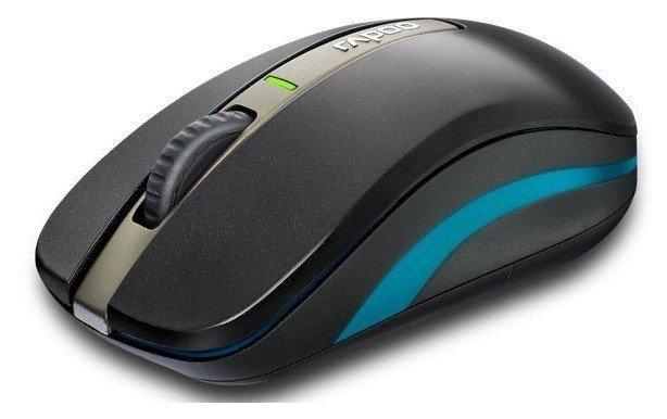 Миша RAPOO 6610 wireless+bluetooth оптична, чорна (57994) фото