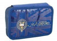 Пенал YES твердий подвійний Oxford blue, 20*13,5*4 (531387)
