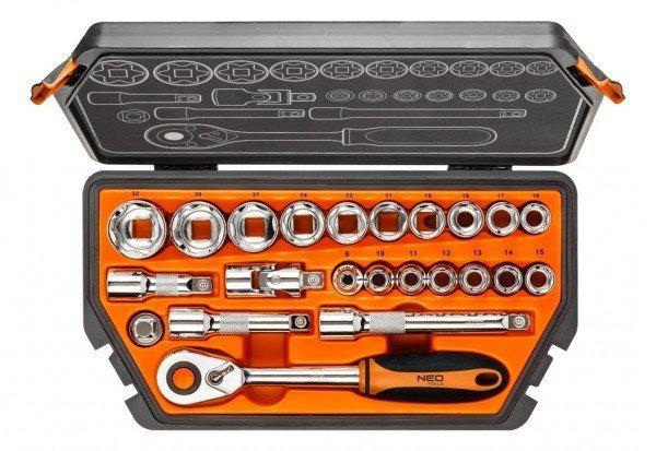 neo tools Набор торцевых головок NEO 1/2 23 предмета (08-616)
