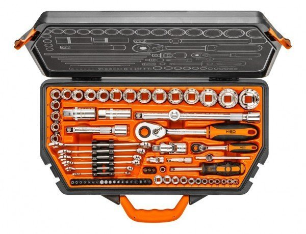 neo tools Набор торцевых головок NEO 1/2, 1/4 71 предмет (08-635)