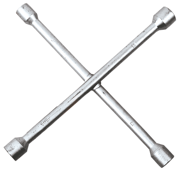 Купить Ключи, Ключ балонный крестовой TOPEX 37D310 17 х 19 х 22 мм, 13/16''
