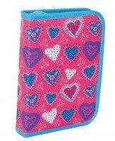 Пенал школьный Smart твердый Blue heart, 20,5*14*3,5 (531346)