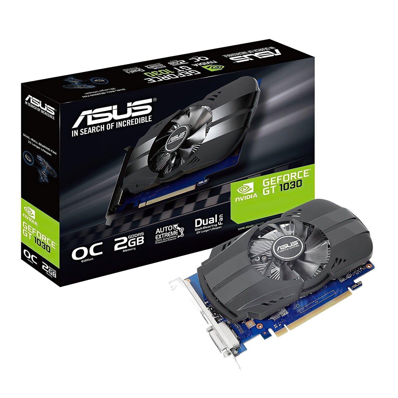 Відеокарта ASUS GeForce GT +1030 2GB GDDR5 OC (PH-GT1030-O2G) фото1