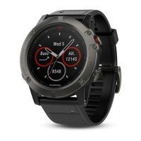 Смарт-часы GARMIN Fenix 5X Sapphire Slate Gray with Black Band