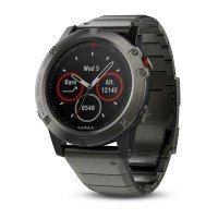 Смарт-часы GARMIN Fenix 5X Slate Gray Sapphire with Metal Band (010-01733-03)