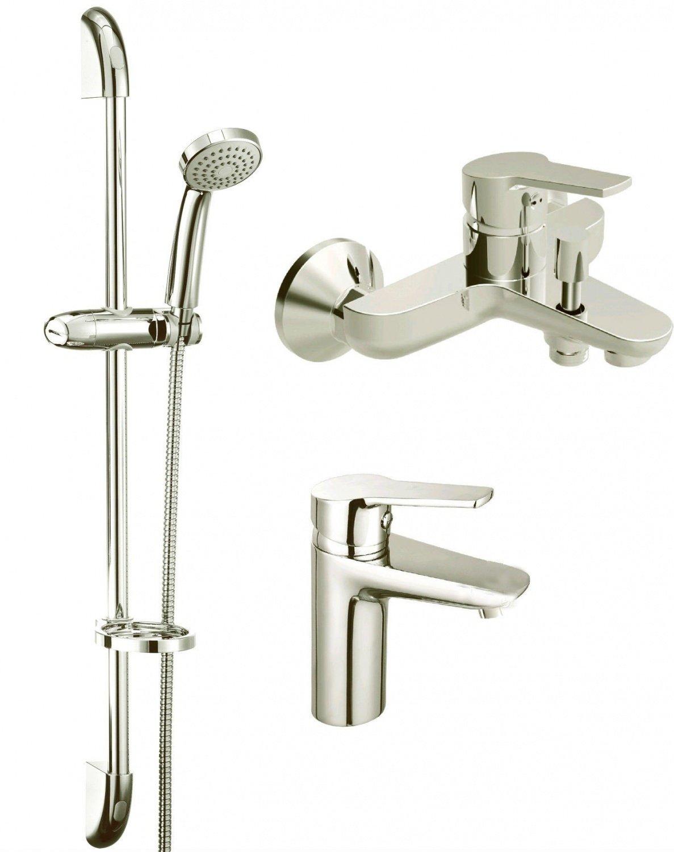 Набор смесителей для ванны KOLLER POOL Kvadro 3 в 1 (KR0200+KR0100+KR010) фото 1