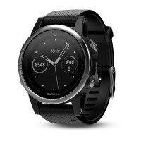 Смарт-часы GARMIN Fenix 5S Silver with Black Band