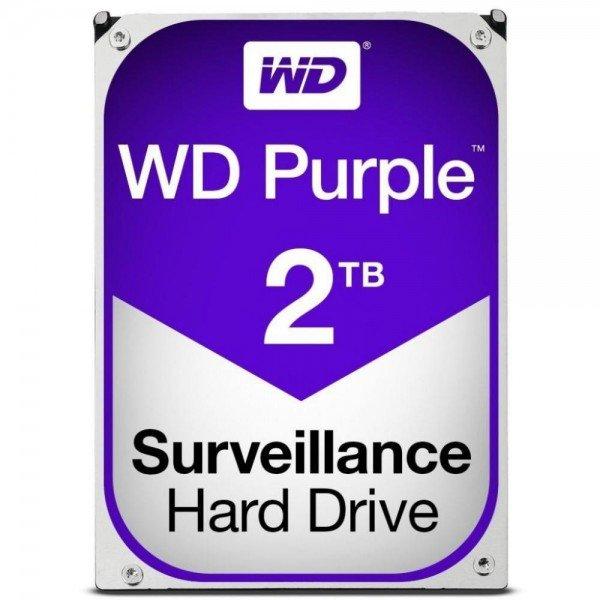 Купить Жесткий диск внутренний WDC HDD SATA 2TB 6GB/S 64MB/PURPLE (WD20PURZ)