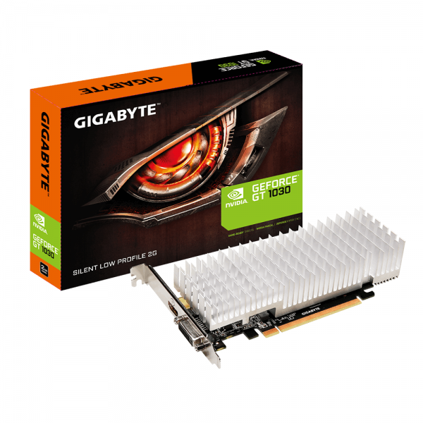 Видеокарта GIGABYTE GeForce GT1030 2GB DDR3 Low Profile Silent (GV-N1030SL-2GL)