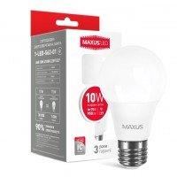 Светодиодная лампа MAXUS A60 10W яркий свет 220V E27 (1-LED-562-01)