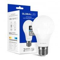 Светодиодная лампа GLOBAL A60 8W яркий свет 220V E27 AL (1-GBL-162-02)