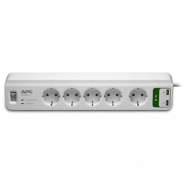 Купить Сетевые фильтры, Фильтр APC Essential SurgeArrest 5 outlets + 2 USB (5V, 2.4A)