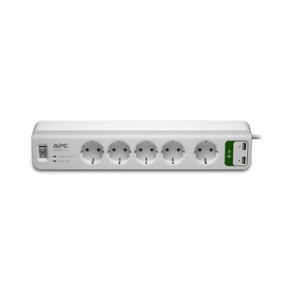 Купить Фильтр APC Essential SurgeArrest 5 outlets + 2 USB (5V, 2.4A)