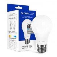 Светодиодная лампа GLOBAL A60 10W яркий свет 220V E27 AL (1-GBL-164-02)