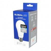 Светодиодная лампа GLOBAL A60 12W яркий свет 220V E27 AL (1-GBL-166-02)