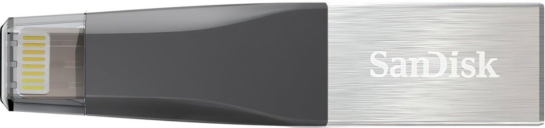 Накопичувач USB SANDISK 128GB iXpand Mini USB 3.0/Lightning Apple фото