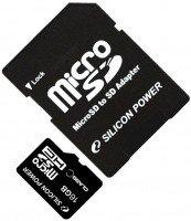 Карта памяти Silicon Power microSDHC 16GB Class 4 + adapter