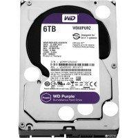 Жорсткий диск внутрішній WDC HDD SATA 6TB 6GB/S 64MB/PURPLE (WD60PURZ)