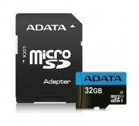 Карта памяти Adata microSDHC 32GB Class 10 UHS-I R10/W5MB/s + SD-адаптер