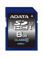 Карта памяти ADATA SDHC 8GB Class 10 UHS-I U1 R50/W10 MB/s (ASDH8GUICL10-R)