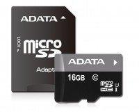 Карта памяти Adata microSDHC 16GB Class 10 UHS-I R10MB/s + SD-адаптер