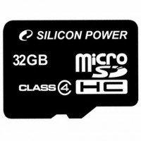 Карта памяти Silicon Power microSDHC 32GB Class 4