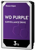 Жесткий диск внутренний WDC HDD SATA 3TB 6GB/S 64MB/PURPLE (WD30PURZ)