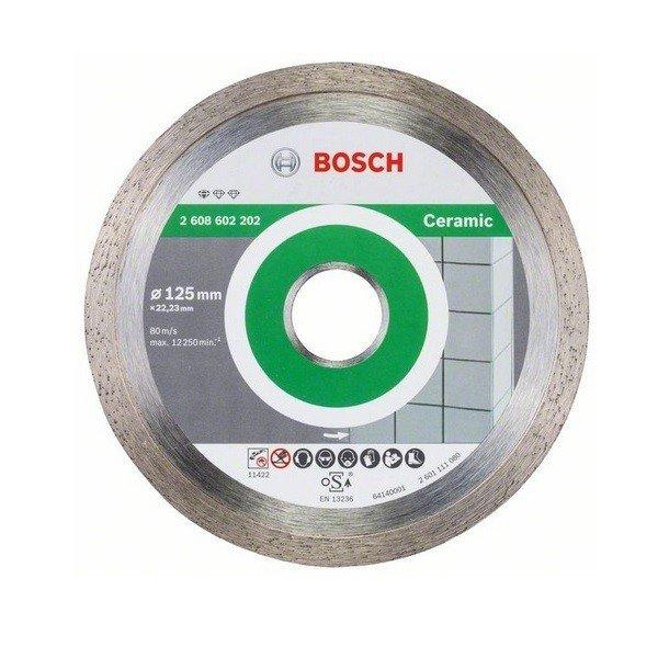 bosch Круг алмазный отрезной Bosch Professional for Ceramic 125х1,6 (2608602202)