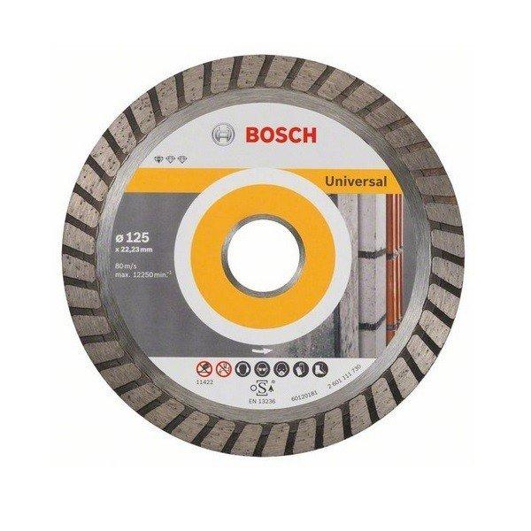 bosch Круг алмазный отрезной Bosch Standard for Universal Turbo 125-22.23 2608602394