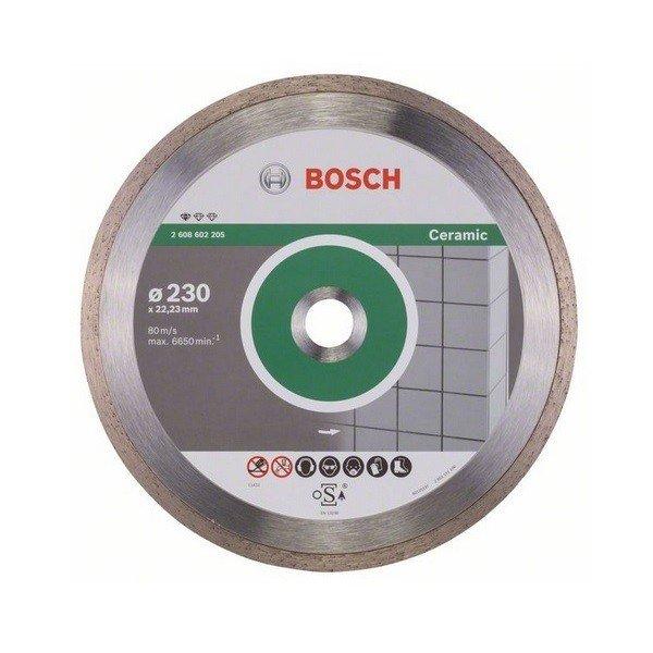 bosch Алмазный отрезной диск Bosch Standard для керамики 230-22.2 2608602205