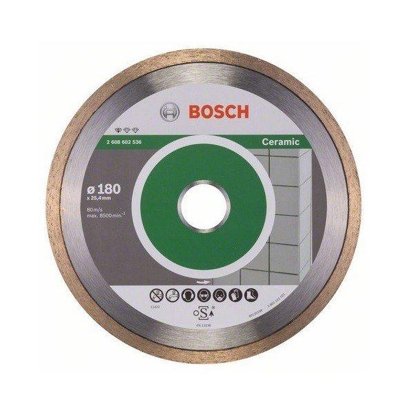 bosch Алмазный отрезной диск Bosch Standard для керамики 180-25.4 2608602536