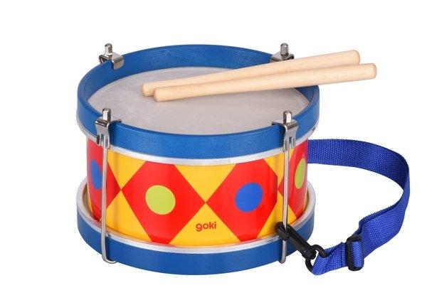 Купить Музыкальный инструмент goki Барабан с шлейкой синий (61982G)