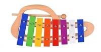 Музичний інструмент goki Ксилофон веселка з ручкою (61979G)