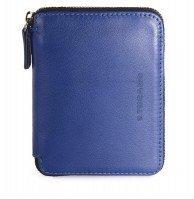 Кошелёк кожаный Tucano Sicuro Premium Wallet (синий)