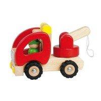 Машинка goki Эвакуатор деревянный красный (55965)