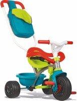 Трехколесный велосипед Smoby с козырьком, багажником и сумкой зелено-голубой (740402)