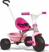 Трехколесный велосипед Smoby с козырьком и багажником малиновый (740315)
