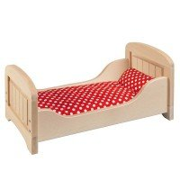 Кроватка для кукол goki натуральная (51701G)