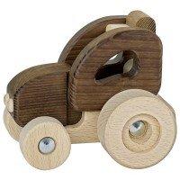 Машинка деревянная goki Трактор натуральный (55911G)