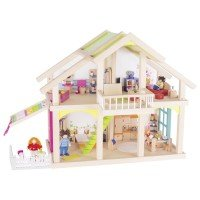 Кукольный домик goki 2 этажа с внутреним двориком Susibelle (51588G)