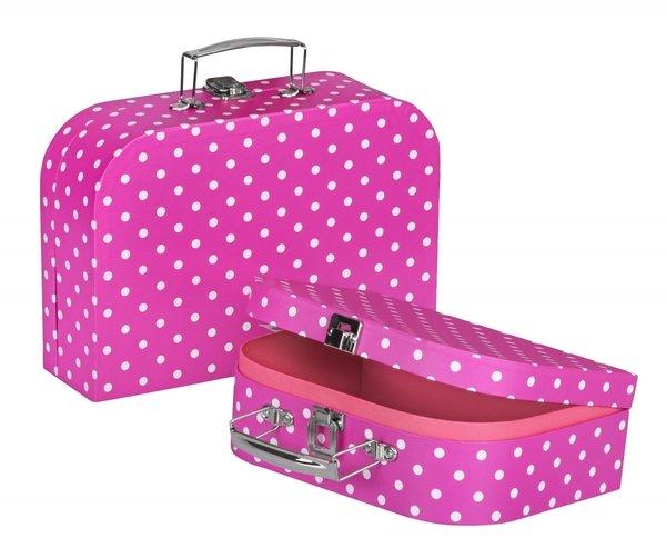 Купить Игровой чемодан goki Фиолетовый в горошек (60106G)