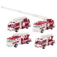 Машинка металическая goki Пожарная машина Бочка с лесницей белая (12115G-3)