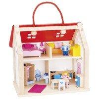 Кукольный домик goki Дорожный с ручкой (51780G)
