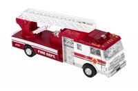 Машинка металическая goki Пожарная машина лесница белая (12115G-1)