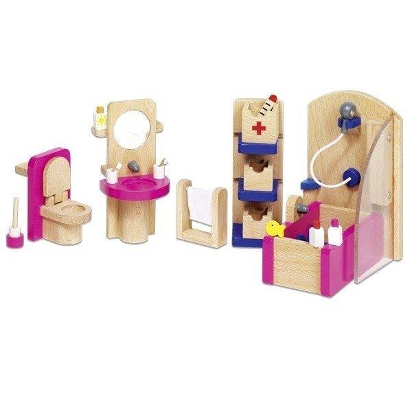 Купить Набор для кукол goki Мебель для ванной (51748G)